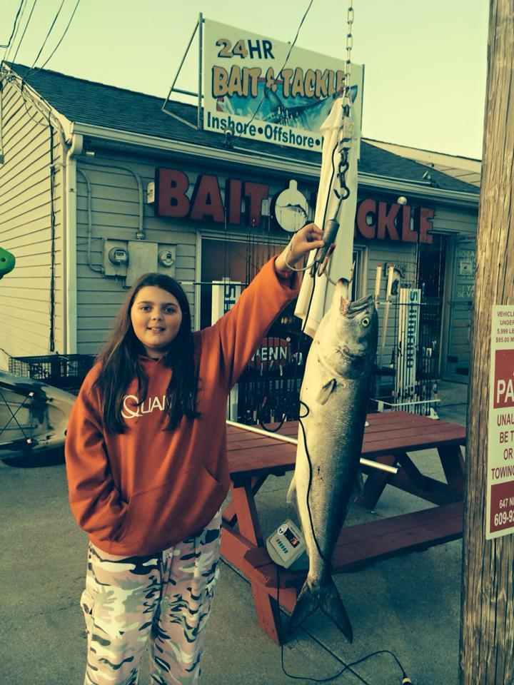 Jersey Shore Beach N Boat Fishing Tournament: Hailey Walker, 12 First Place Bluefish