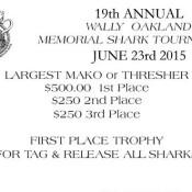 Wally Oakland Memorial Shark Tournament