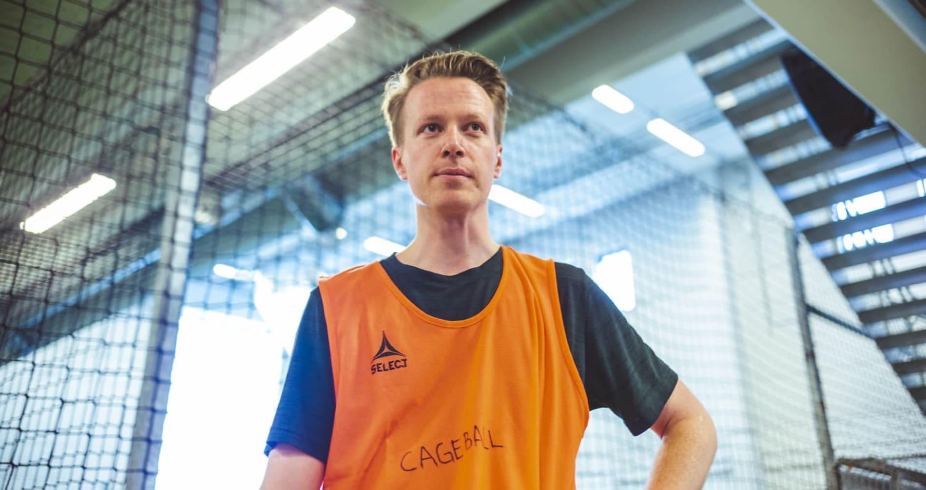 TIDLIGERE KOLLEGA: Kristoffer Nymo jobber ikke lenger i KLP, men har fortsatt å spille med sine tidligere kolleger.