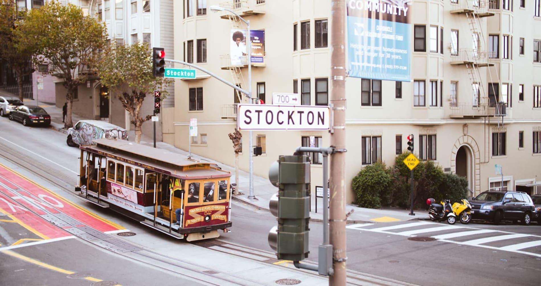 GRÜNDERBYEN: San Francisco huser over 4000 oppstartsselskaper. Nicolai Osmundsen planlegger selv å ha med seg et nystartet selskap i bagasjen hjem.