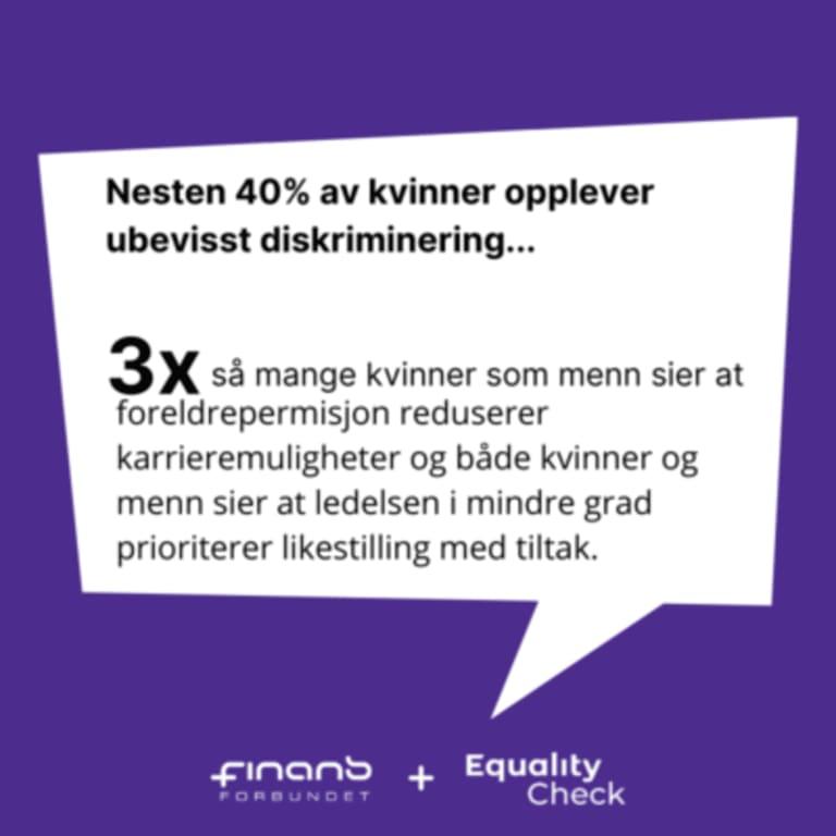 Hvordan vurderer kvinner og menn likestilling i finans?