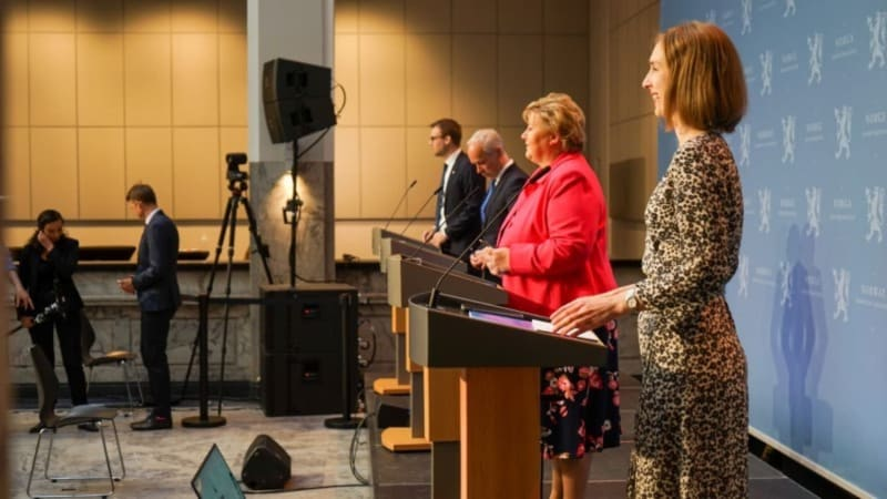 regjeringen, pressekonferanse