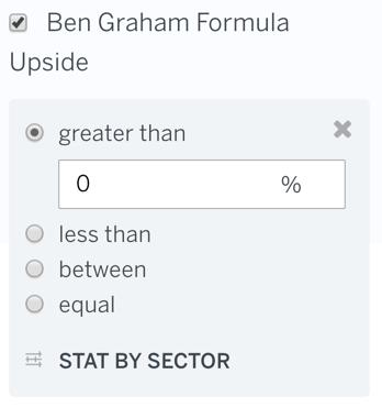 Ben Graham Upside Filter