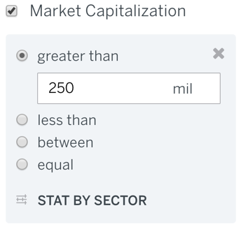 Market Capitalization Filter
