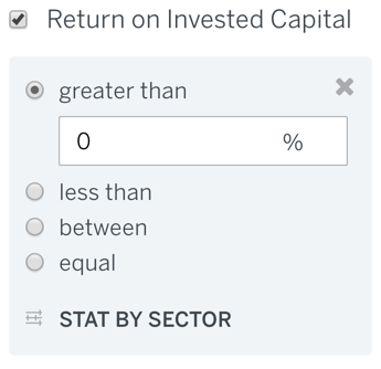Return on Invested Capital Filter