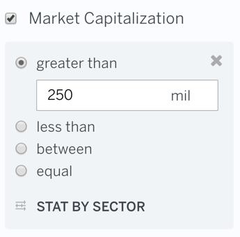 Filter Market Cap