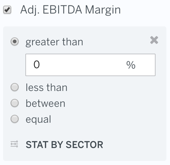 Filter Adj EBITDA Margin