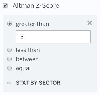 Altman Z-Score Filter
