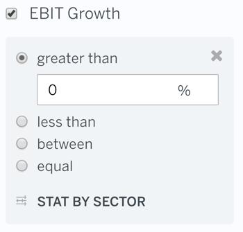 EBIT Growth Filter