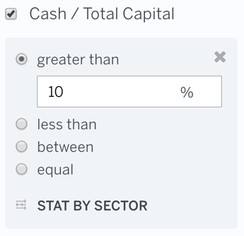 Filter Cash / Total Capital