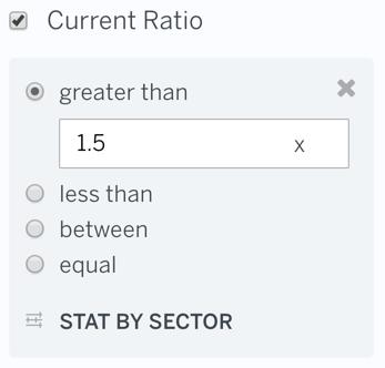 Filter Current Ratio
