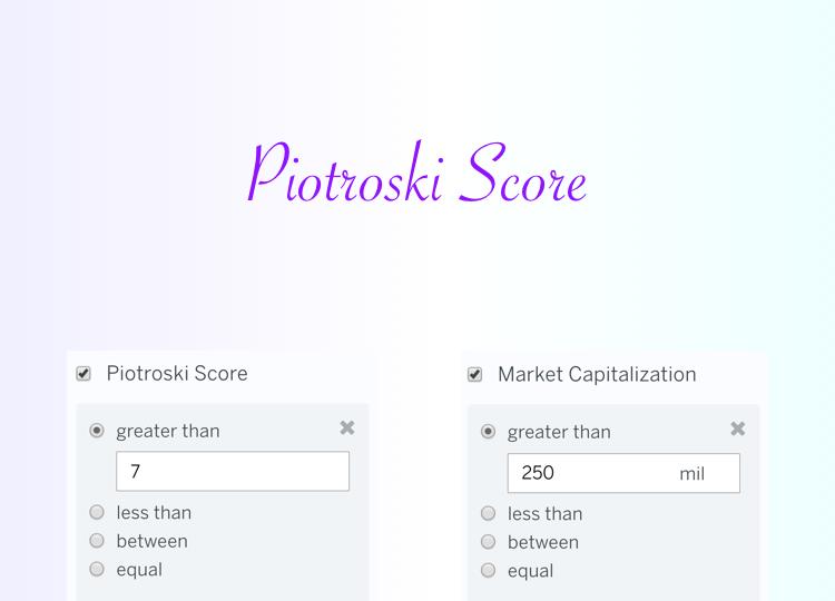 Stock Screen: Piotroski Score