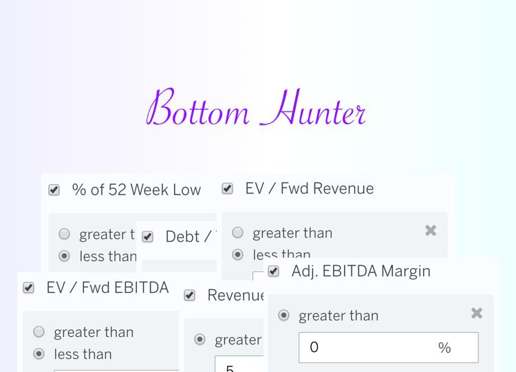 Stock Screen: Bottom Hunter