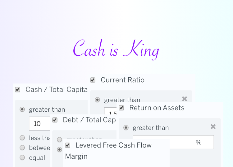 Stock Screen: Cash is King!