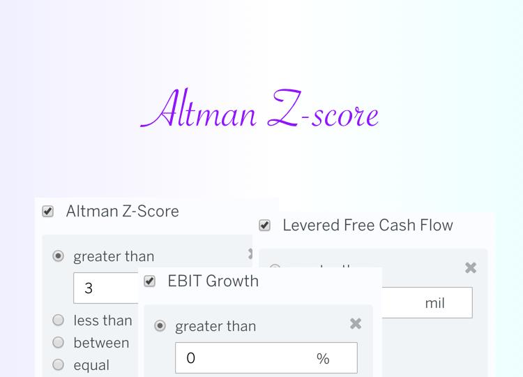 Stock Screen: Strong Altman Z-Score