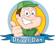 driver dan thumbs up cartoon image