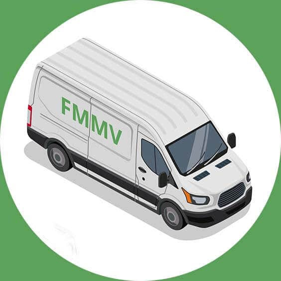 man with a van Trafford area vector image