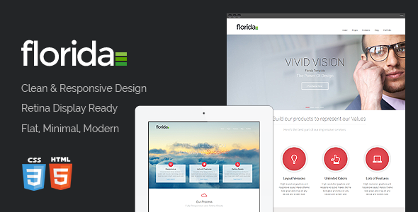 Florida is an aesthetically designed web template that is retina ready, and boasts a simple, minimalist and clean design.