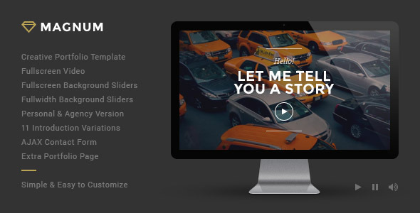 Showcase your work capabilities in a creative way with this beautiful template.