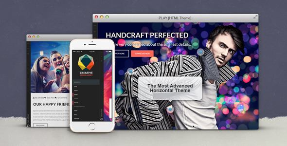 Play is an excellent web template for a website that supports music, cinema, festival, social activity or concert. It has a stylish and creative visual appeal that can entice viewers and keep them engaged for longer.