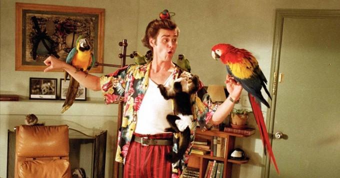 Tänään tv:stä ja torille! Jim Carrey mainitsee Suomen Ace Ventura -komediassa