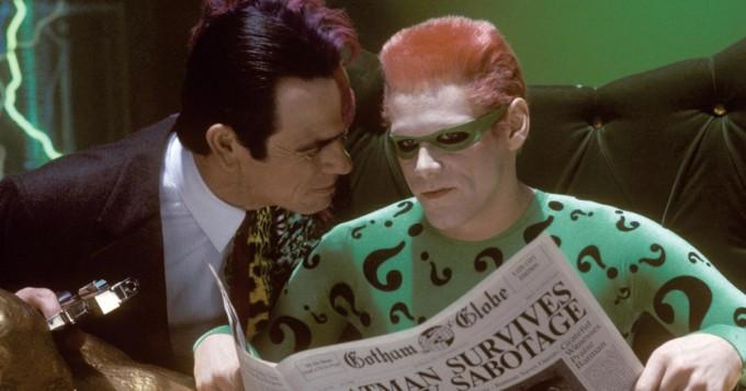 Jim Carrey on Arvuuttaja elokuvassa Batman Forever - Sub tänään