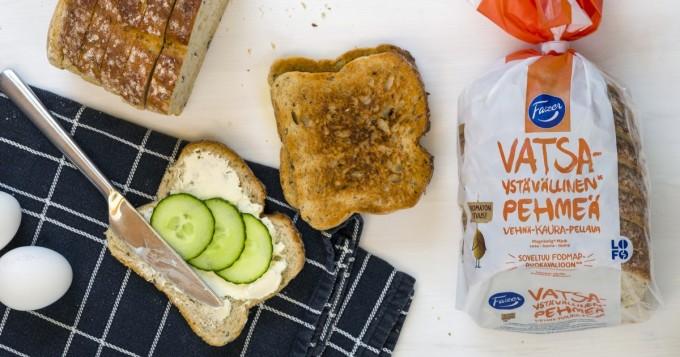 Fazer toi kauppoihin ensimmäisen herkkävatsaisille suunnatun vehnäleivän - FODMAP-ruokavalio saa tukea LOFO-innovaatiosta