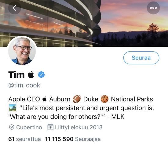 Tim Cook - Twitter