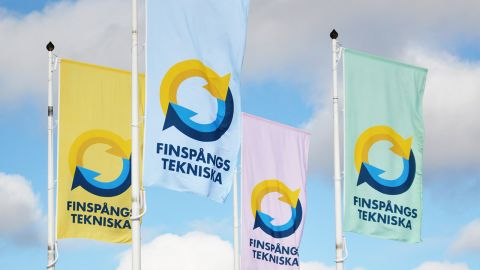 Vi flaggar för våren i Finspång