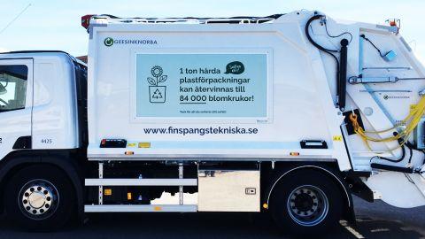 Gröna sopbilar blir vita från och med 1 april