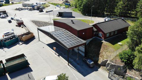 Solceller på Sjömansäng