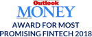 We get an award for the most promising fintech from outlook money