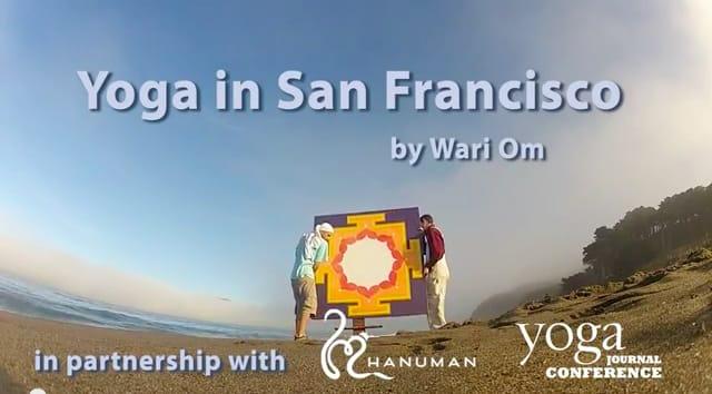 "Screenshot from video ""Yoga in San Francisco"" by Wari Om"