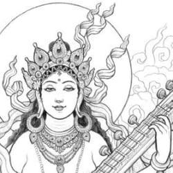 Saraswati [detail]