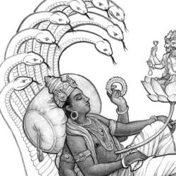Vishnu, Brahma and Lakshmi [detail].