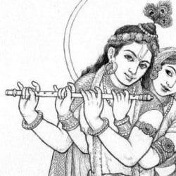 Krishna and Radha [detail].