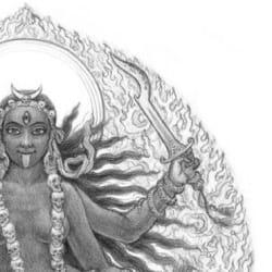 Kali dancing [detail].