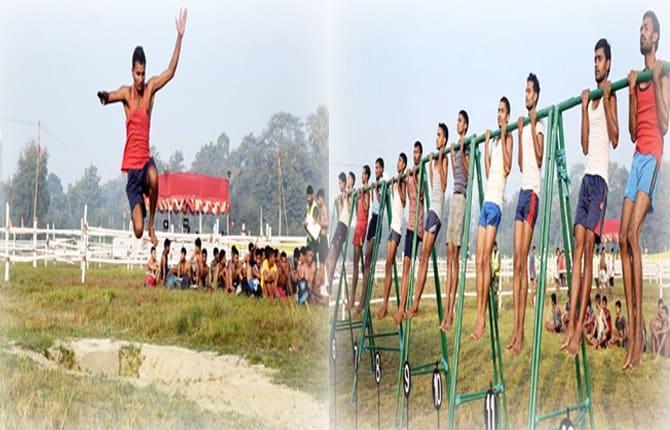 सेना में बहाल होने के लिए दौड़े 3200 युवा, 258 लड़कों के हाथ आयी बाजी