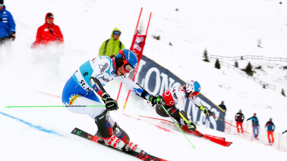 Image result for Redemption podium for Swenn Larsson as Shiffrin wins Maribor slalom
