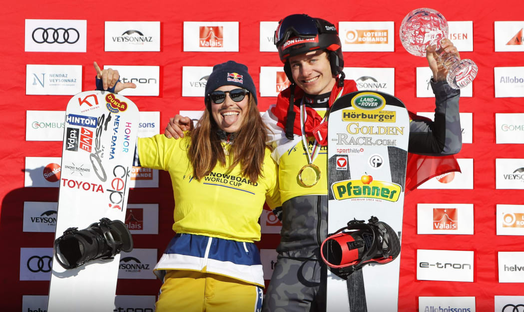 Resultado de imagem para Samkova and Haemmerle grab Crystal Globes as SBX season wraps up in Veysonnaz
