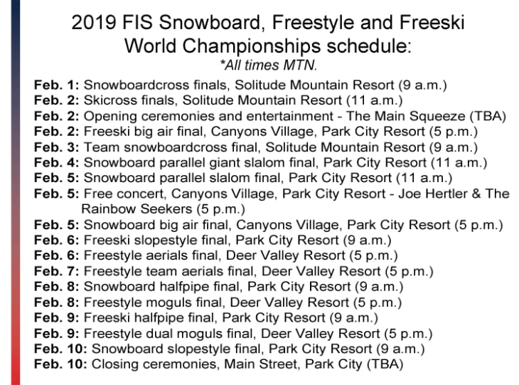 100 Days Out: 2019 FIS Snowboard, Freestyle and Freeski World