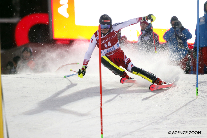 It's slalom showtime in Levi