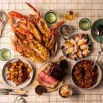 beef crab lobster