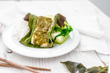 Cod in Banana Leaf