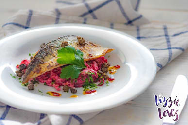 Cornish Mackerel with Beetroot and Celeriac Remoulade