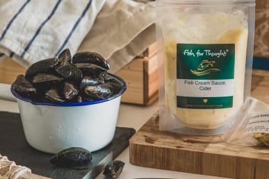 Mussels In Cornish Cider Sauce and Seaweed Butter