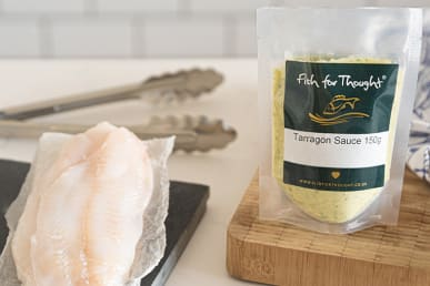 Cornish Plaice Fillets and Tarragon Sauce