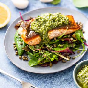 salmon with salsa verde