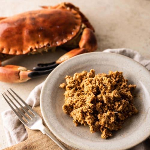 brown crabmeat