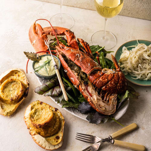 crab souffle and lobster